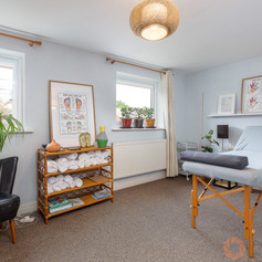 Home massage therapy room