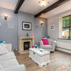A homely lounge photographed for a local estate agent