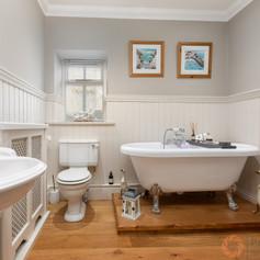 Beautiful classic bathroom with a claw foot bath