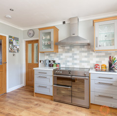 Bright kitchen with double oven