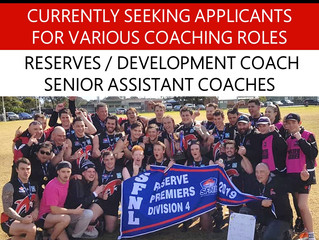 Seeking Applicants for Coaching Roles