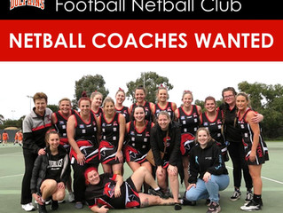 NETBALL COACHES WANTED