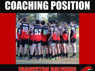 UNDER 19 COACHING ROLE