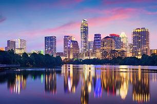 Austin, Texas, USA downtown skyline on t