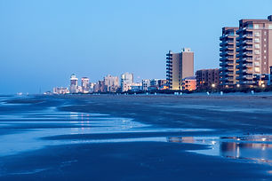 Beach in South Padre Island, Texas. Sout