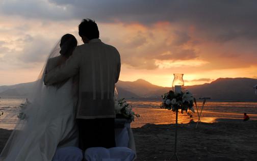 Lighthouse Wedding Sunset
