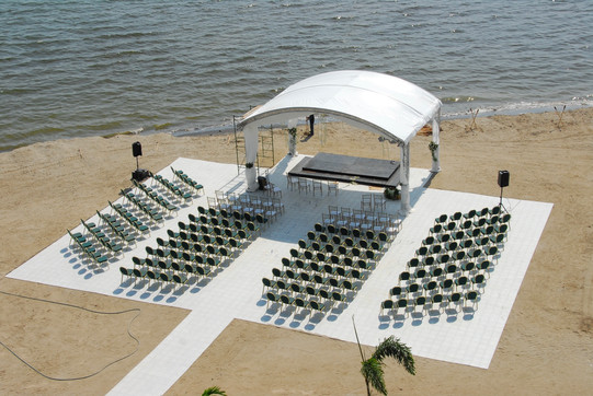 Lighthouse Beach Wedding Setup