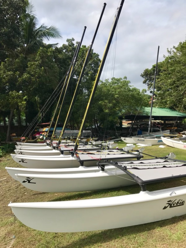 15 new Hobie 16s ready for the Challenge 2018