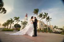 Lighthouse Wedding Couple
