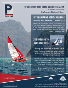 Poster of the 18th Hobie Challenge and Nasugbu to Busuanga Race by PHINSAF