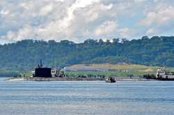Submarine visiting Subic Bay Freeport Zone which was a former Naval Base