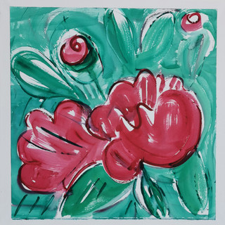 Gouache marouflée sur toile - 56x56