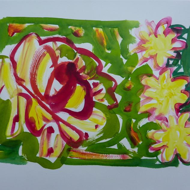 Acrylique marouflfé sur toile - 55x38
