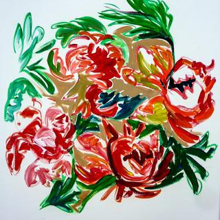 Acrylique marouflé sur toile - 55x70