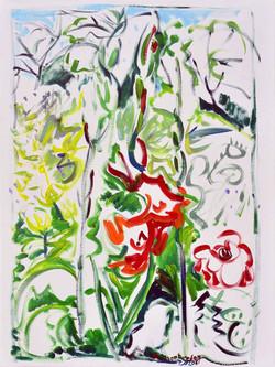 Acrylique papier marouflé sur toile 60x80