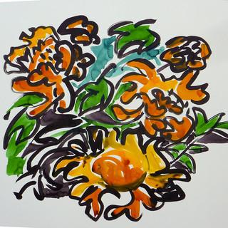 encre marouflé sur toile - 60x80