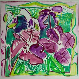 Acrylique marouflé sur toile - 5-x56