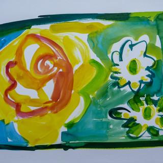 Acrylique marouflé sur toile - 55x38