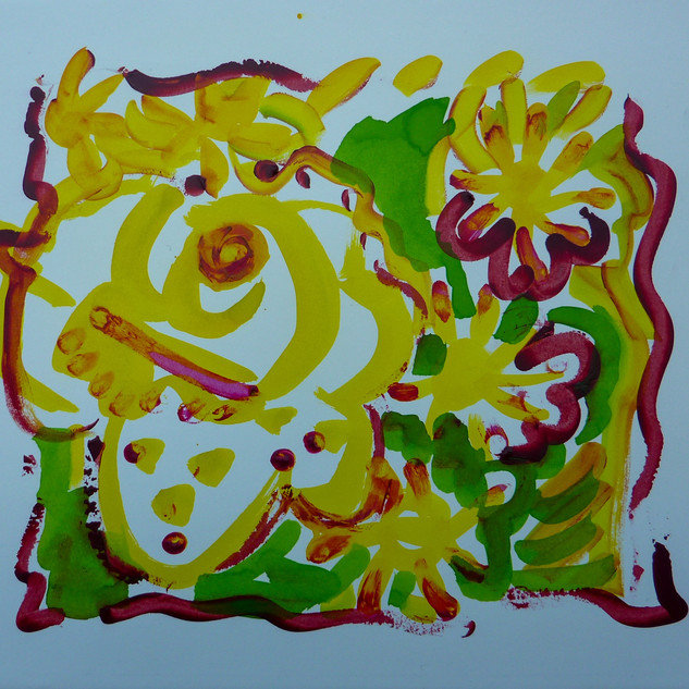 Acrylique marouflé sur toile - 55x46