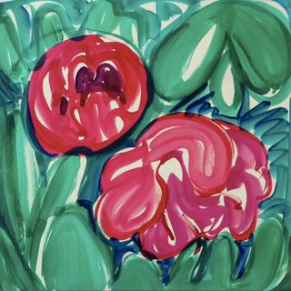 Gouache marouflé sur toile - 56x56