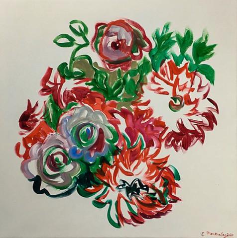 Acrylique marouflé sur toile - 56x56