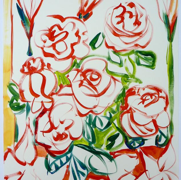 Acrylique marouflé sur toile x 60x80