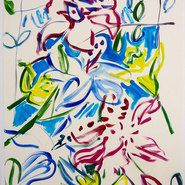 Acrylique marouflé sur toile - 60x8