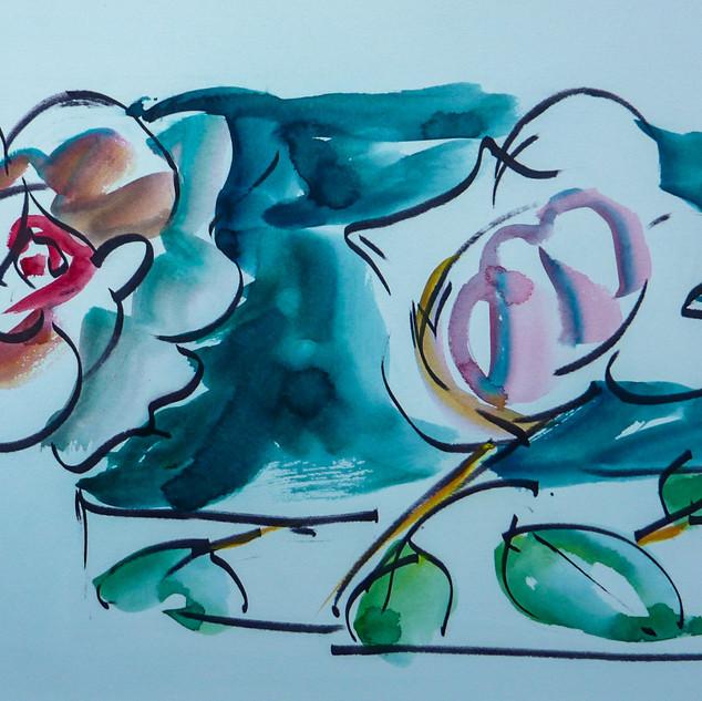 encre marouflé sur toile - 46x33