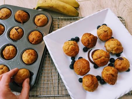 Banana & Blueberry Mini Muffins