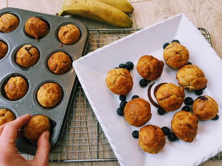 Banana & Blueberry Mini Muffins