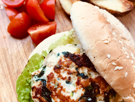 Turkey, Feta & Spinach Burgers