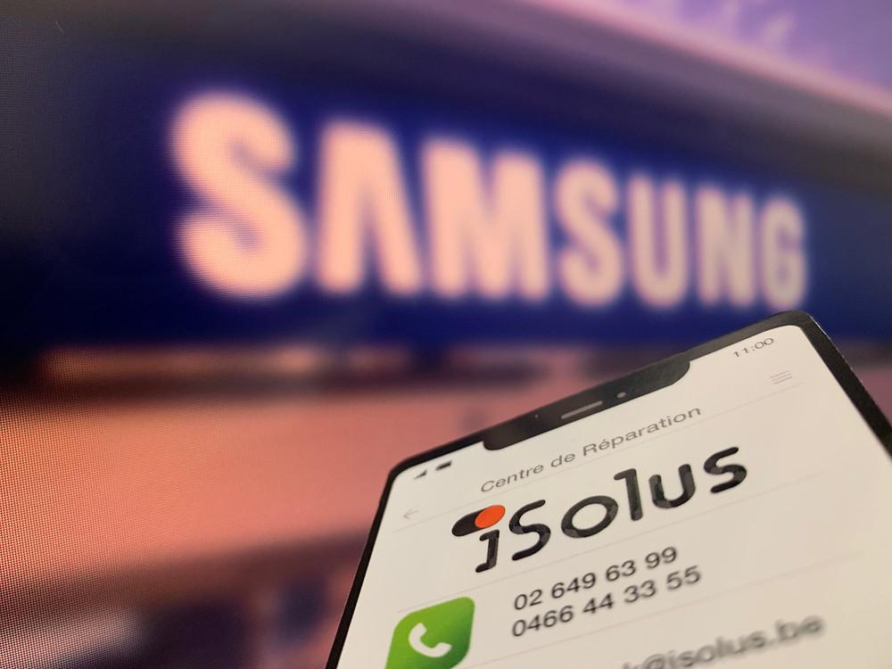 Réparation Samsung - iSolus Bruxelles