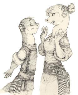 Character Drafts Weasel & Ferret