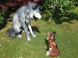 Grey Wolf & Red Fox