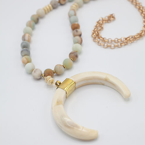 Amazonite Horn necklace