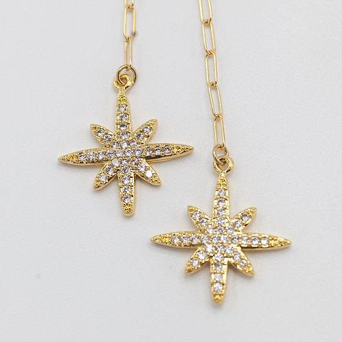 CZ Pave Stars - Gold