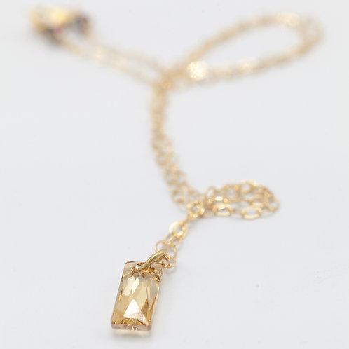 Swarovski QB Necklace - Gold