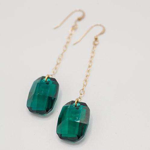 Swarovski Drops - Green
