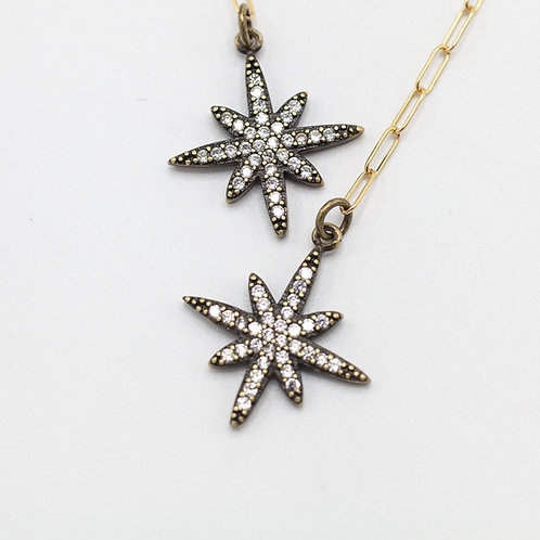 CZ Pave Stars - Gunmental