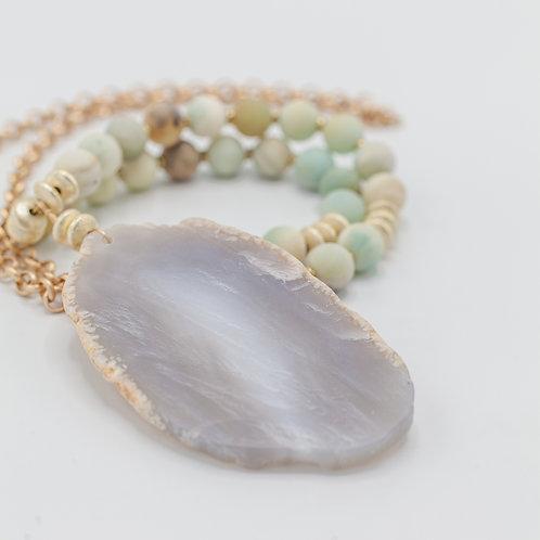 Agate Amazonite Necklace