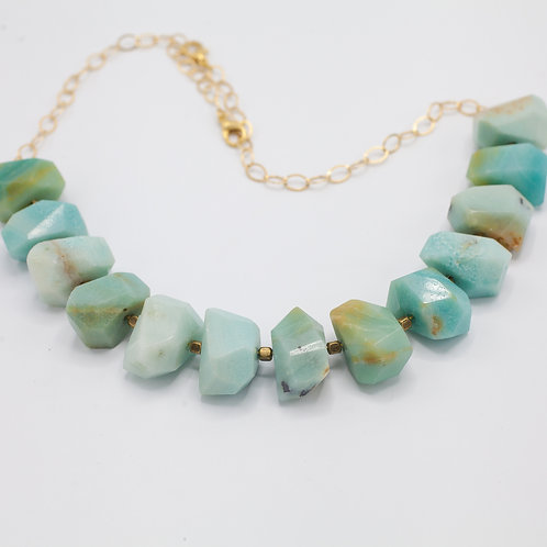Amazonite Nugget Necklace
