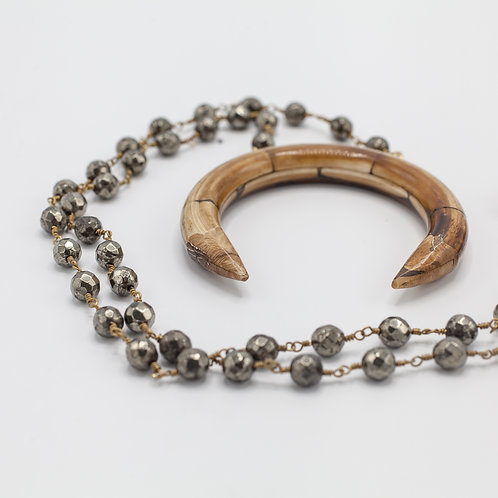 Pyrite & Bone Horn
