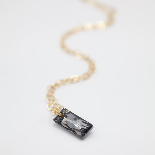 Swarovski QB Necklace - Black