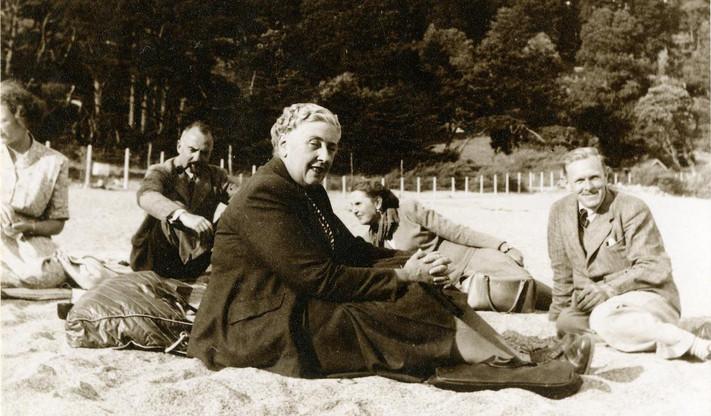 Agatha on the beach