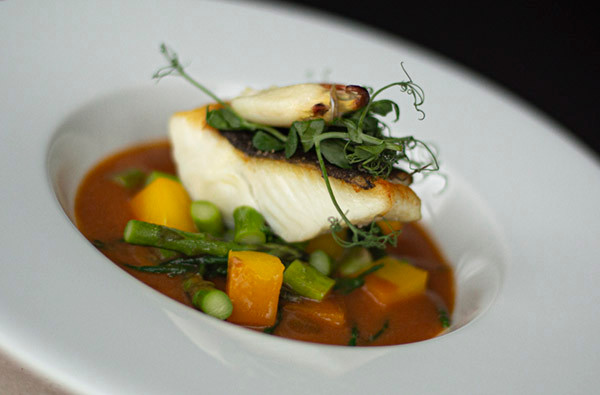 Small Roasted fillet of halibut crab bis