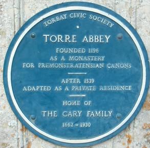 Torre Abbey plaque.jpg