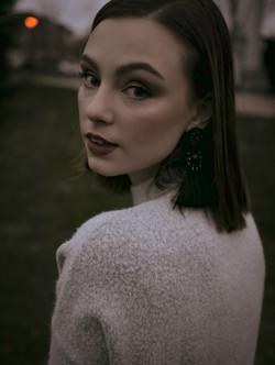 Carys model shot turning back to camera portrait. Shot by Seeworthyfilms