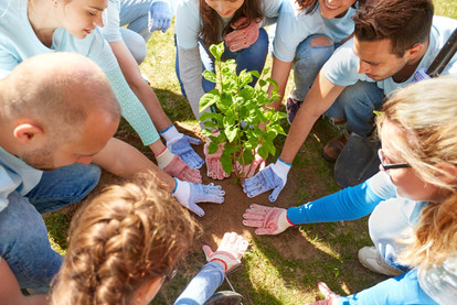 volunteering, charity, people and ecolog