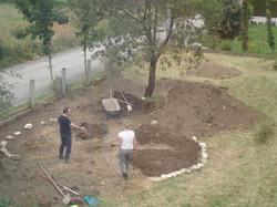 Der Mandala-Garten entsteht