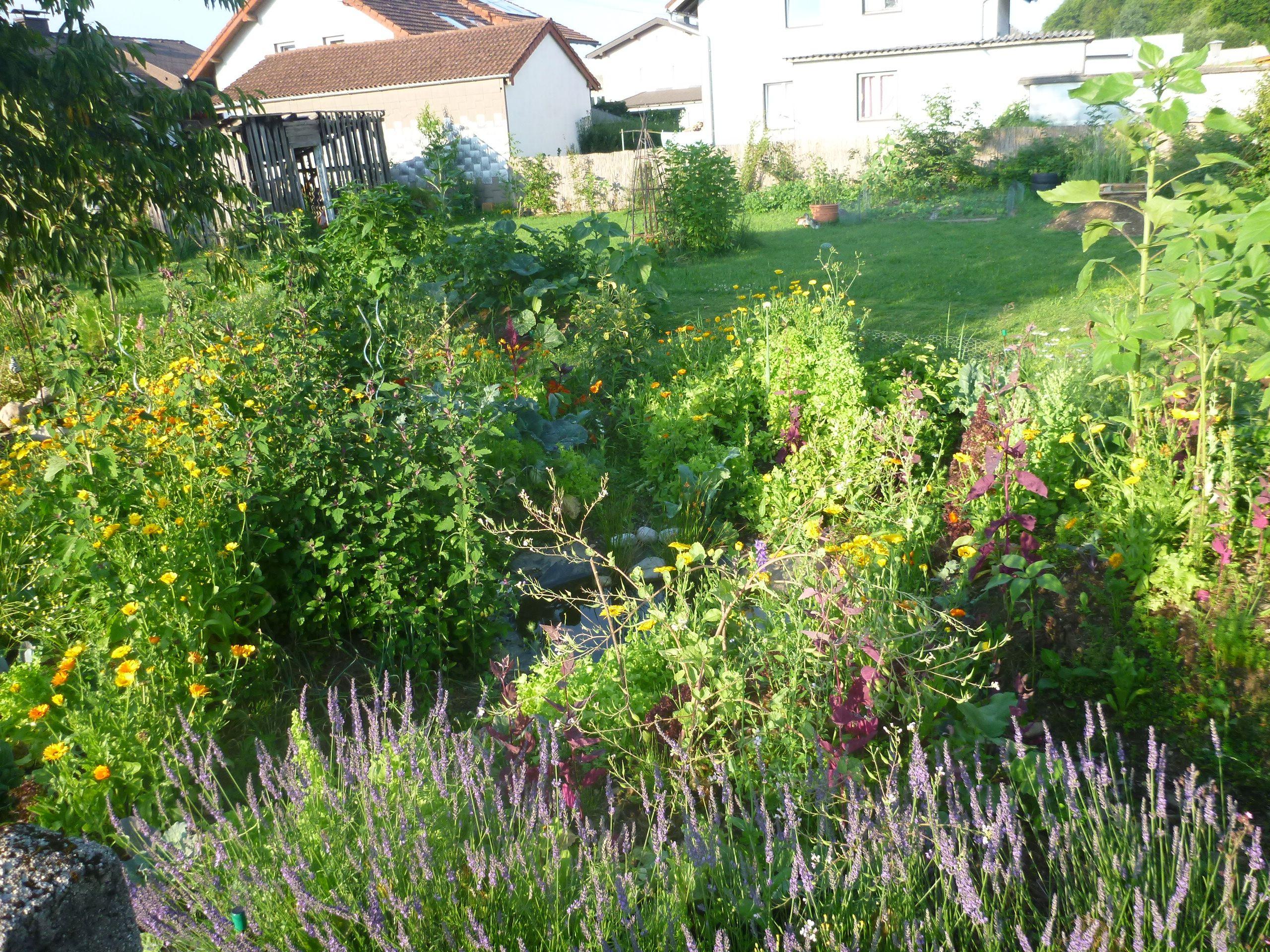 Mandala-Garten im Sommer
